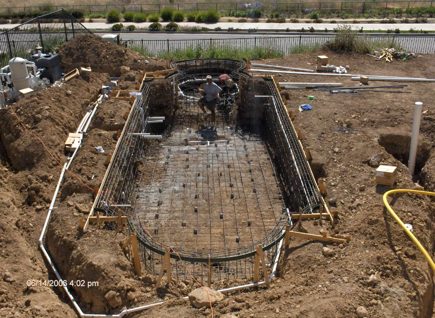 Construction Photo Gallery How To Build Your Own Pool