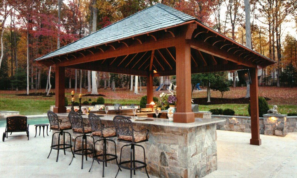 Patio Covers - How to Build Your Own Pool How to Build ... on Covered Pool Patio Ideas id=65964