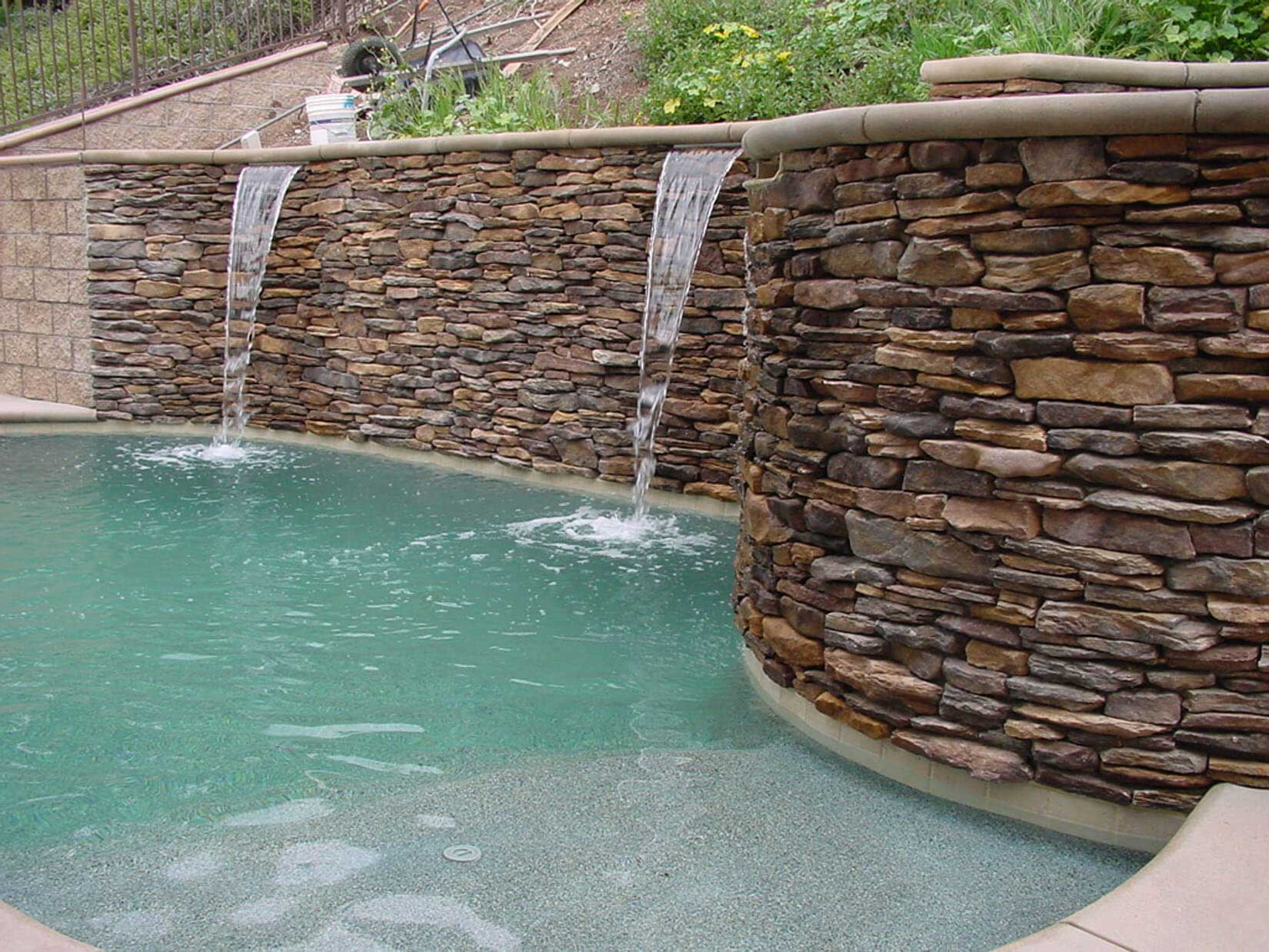 Photo gallery of swiiming pool tile choices - Building a swimming pool on a slope ...
