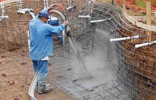 Which Is Better Shotcrete Or Gunite For Your Swimming Pool Plans How To Build Your Own Pool